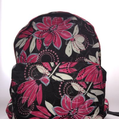 Mochila Roxy Basic Girl wanna maker ref. WPWBA331 FLOREADA FUCSIA GRIS BLANCO