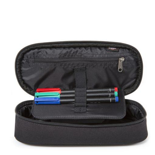 Estuche Eastpal escolar: PLUMIER OVAL REF. EK717008 BLACK negro básico