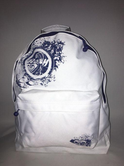 Mochila Roxy Basic Girl ref. XPWBA021 4109318 White/ blanca logo marino
