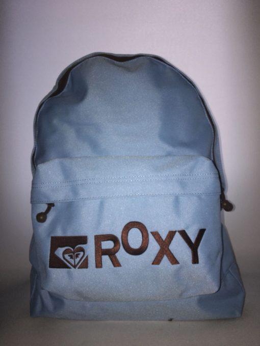 Mochila Roxy Basic Girl ref. XPWBA011 4107785 azul clara letras bordadas marrones