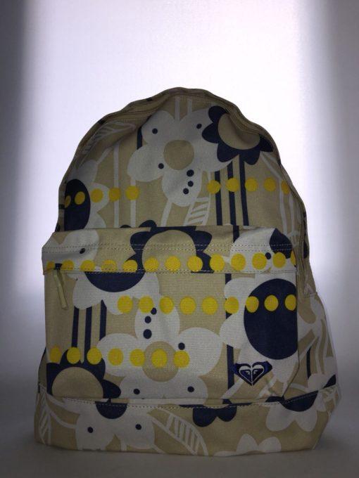 Mochila Roxy Basic Girl ref. XUWBA301 4121968 floreada azul blanco beige amarillo
