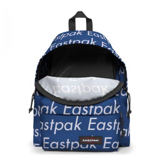 MOCHILA EASTPAK Padded Pak'r® Ek62050V Chatty Blue Azul metálica con logos blancos