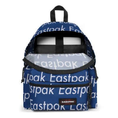 MOCHILA EASTPAK Padded Zippl'r EK69D50V Chatty Blue azul metálico con logos blancos