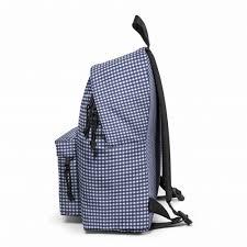 Mochila eastpack Padded Pak'r® EK62033O Gingham Blue cuadros azules y blancos pequeños