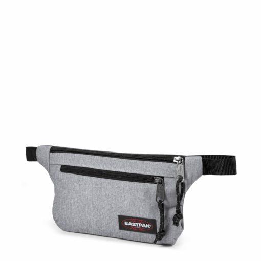 Riñonera Eastpak Springer Talky plana EK773363 XL Sunday Grey gris clara efecto jeans