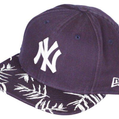 Gorra New Era Cap 9FIFTY SNAPBACK New York Yankees Sandwash Visor azul flores troplicales