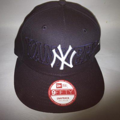 Gorra New Era Cap 9FIFTY SNAPBACK New York YANKEES Tonal Word azul marino logo blanco
