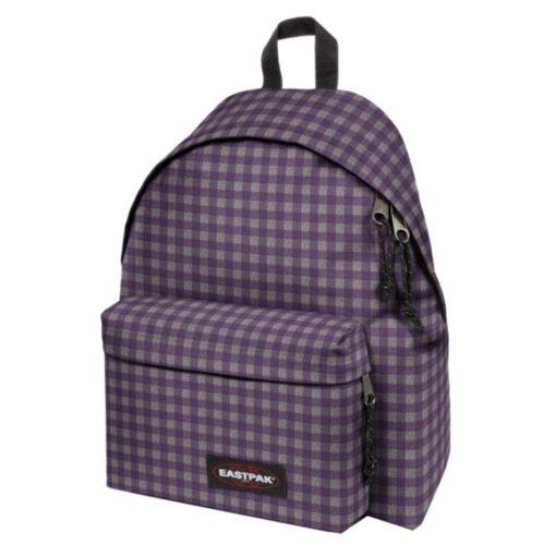 Mochila eastpak Padded Pak'r® EK620_32M Checksange purple cuadros gris morado grandes