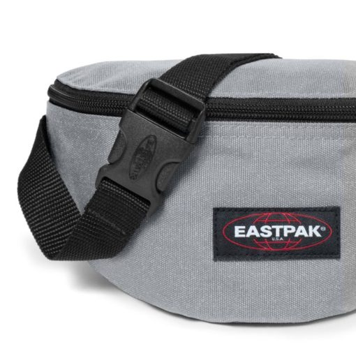 Riñonera Eastpak Springer 2 litros EK07407X Metallic Silver Gris plata purpurina