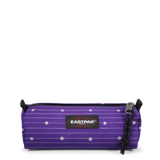 Estuche escolar Eastpak: Benchmark SINGLE EK37288X Little Stripe PURPLE Morado violeta con topos blancos