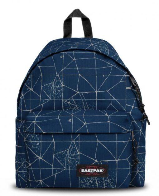 MOCHILA EASTPAK Padded Pak'r® EK62066T CRACKED BLUE azul lineas blancas