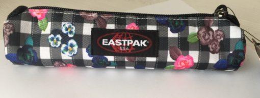 Estuche Eastpak mini escolar: SMALL ROUND SINGLE MINI EK70551A Flores y cuadros