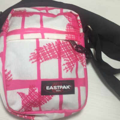 Bolso Eastpak de hombro unisex The One EK045 Rosa y blanco