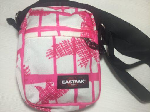 Bolso Eastpak de hombro unisex The One EK045 Rosa y blanco