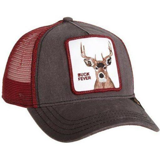 Gorra Animales GOORIN BROS BUTCH TRUCKER CIERVO Deer Buck Fever Brown marrón y granate