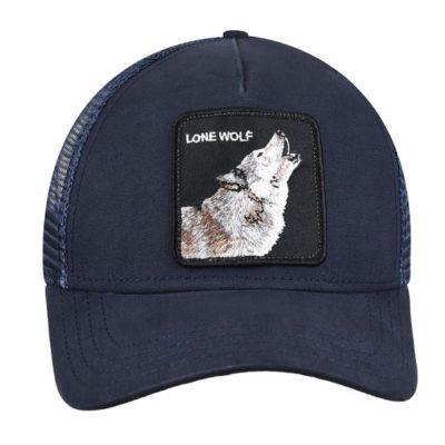 Gorra Animales GOORIN BROS BUTCH TRUCKER azul lobo Lone Wolf