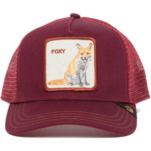 Gorra Animales GOORIN BROS BUTCH TRUCKER granate zorro Foxy Mama