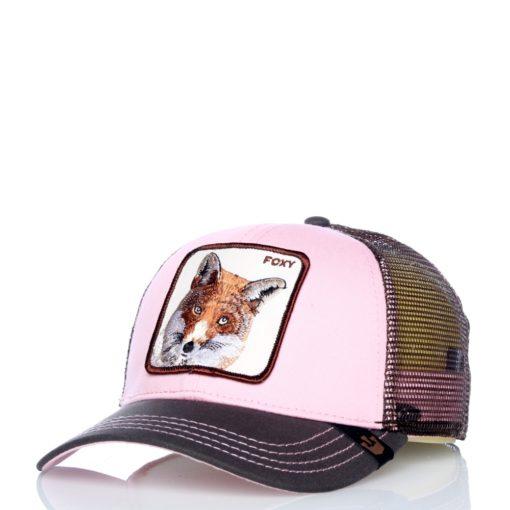 Gorra Animales GOORIN BROS BUTCH TRUCKER rosa palo y gris zorro Foxy baby