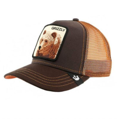 Gorra animales GOORIN BROS BUTCH TRUCKER Grizzly Brown Oso Marrón