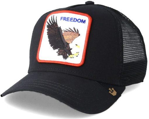 Gorra animales GOORIN BROS Trucker Eagle Freedom black Aguila negra
