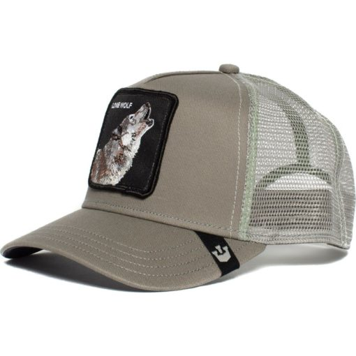 Gorra animales GOORIN BROS Trucker Toucan rejilla/ajustable Lone Wolf Lobo color gris
