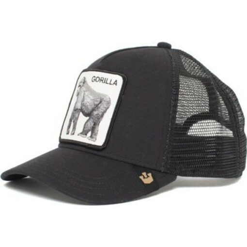 Gorra Animales GOORIN BROS BUTCH TRUCKER negra/Black gorila King of the Jungle