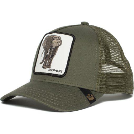 Gorra animales GOORIN BROS rejilla Trucker Elephant Olive verde oliva Elefante
