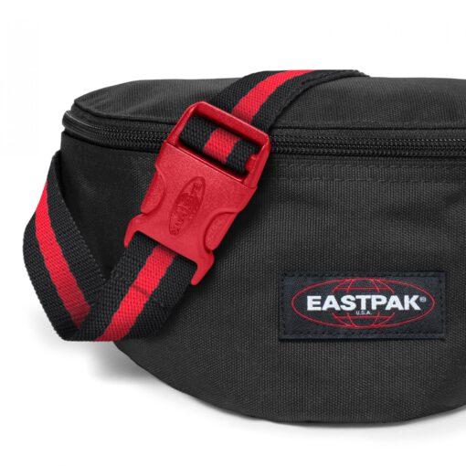 Riñonera Eastpak Springer EK074A11 BLAKOUT Sailor negra detalles rojos