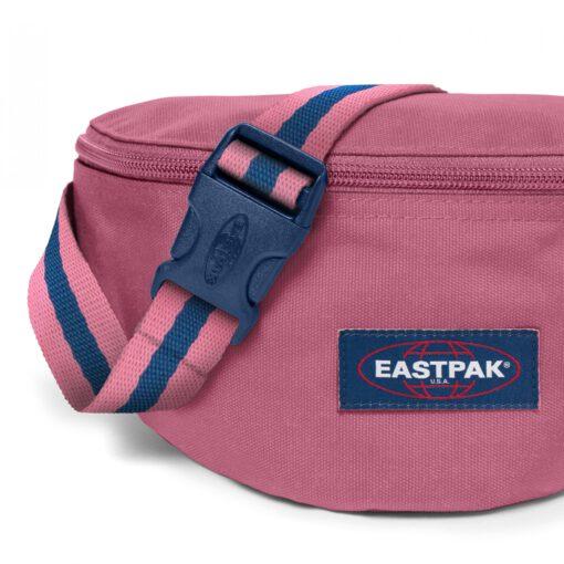 Riñonera Eastpak Springer EK074A13 BLAKOUT SALTY rosa con detalles azules