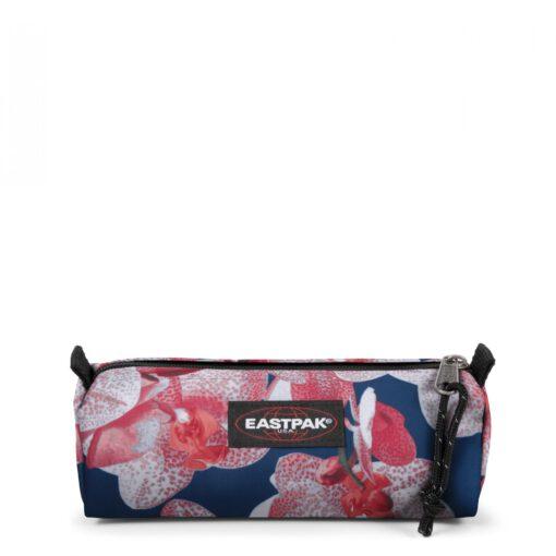 Estuche Eastpak escolar: Benchmark SINGLE EK372A90 CHARMING PINK azul y rosa flores