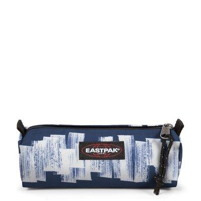 Estuche escolar Eastpak: Benchmark SINGLE EK37202N Doodle Tag azul y blanco