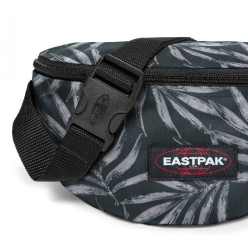 Riñonero Eastpak Springer EK074A18 Brize Palm Palmeras negra y gris