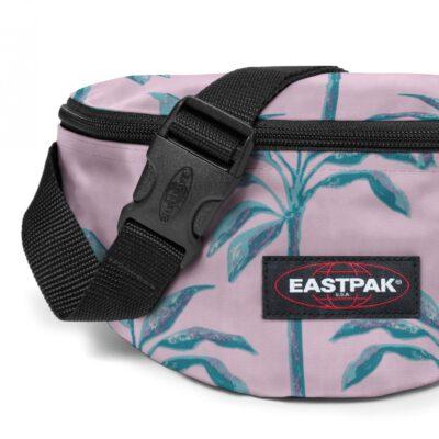 Riñonera Eastpak Springer 2 litros EK074A19 Brize Trees rosa palo hojas palmera