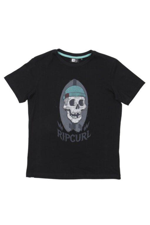 Camiseta manga corta niño Rip Curl Ref. Ktefm4 Trophy ss Tee Negra Calavera