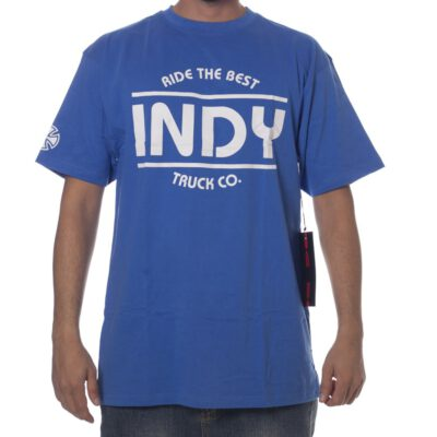 Camiseta manga corta niño INDEPENDENT Ref. Indy Ride the Best Azul logo blanco