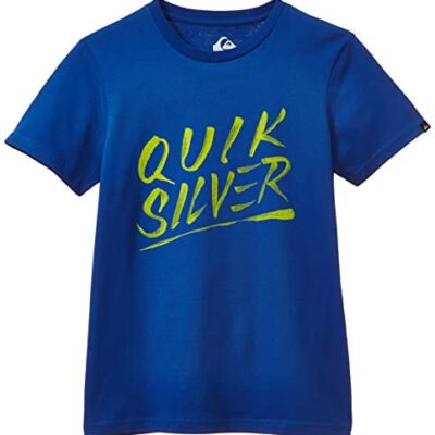 Camiseta manga corta niño Quiksilver Classic Active Logo Ref. EQBZT03056 Azul con logo amarillo