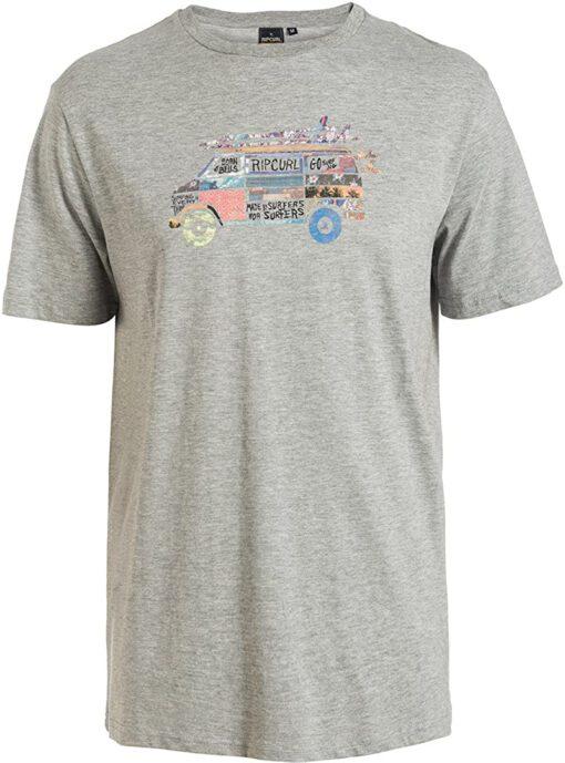Camiseta manga corta niño Rip Curl Ref.KTEGK4 Van SS Tee Cement Marle Gris furgoneta surfera