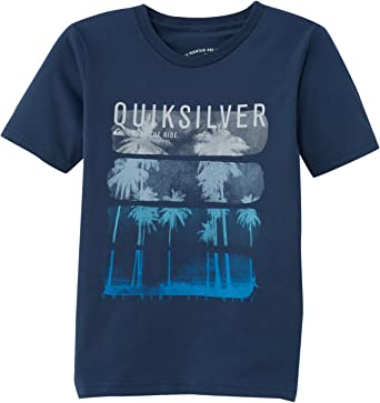 Camiseta manga corta niño Quiksilver Classic Active Logo Ref. EQBZT00007 Azul logo palmeras