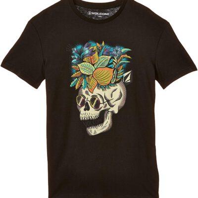 Camiseta manga corta niño VOLCOM Ref. C4331550 Skullennonn ss negra calavera