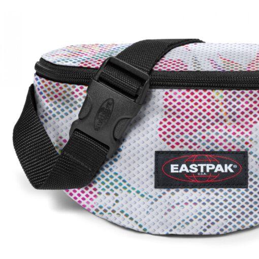 Riñonera Eastpak Springer EK074B14 Mesh White Hibi Malla fondo blanco estampado colores