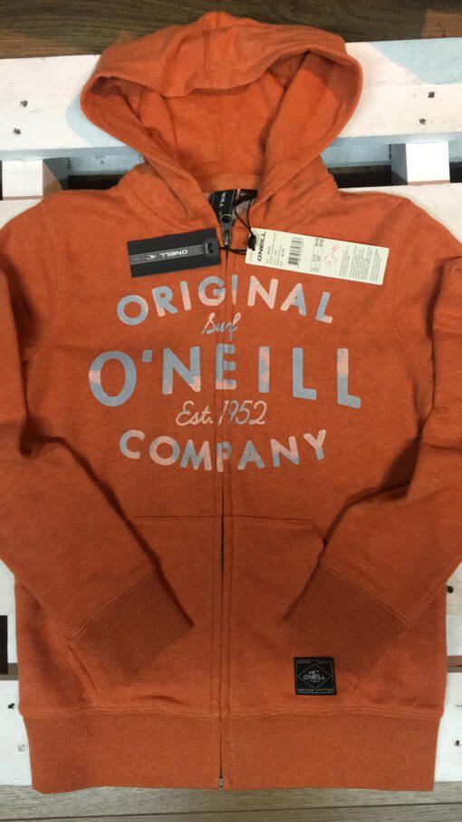 Sudadera O'NEILL con capucha y cremallera para Chicos Ref. 501474 Dune Orange naranja