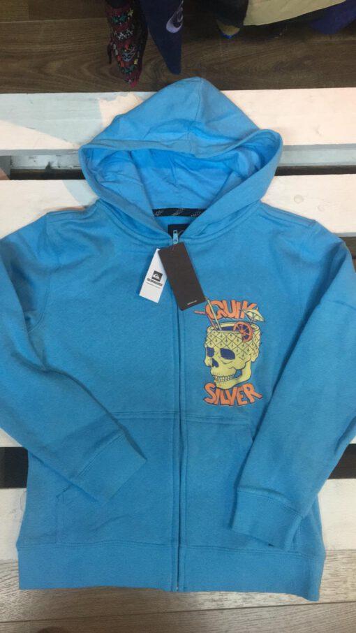 Sudadera Hombre Quiksilver cremallera y capucha Everyday Hoodie Ref. EQYFT04022 Gris y azul marino y ocre