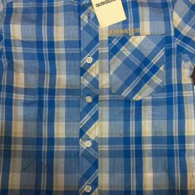 Camisa de Manga Corta Niño Quiksilver KRBSH042 Pac Pacific cuadros azules