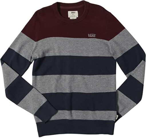 Jersey Suéter Niño Vans Ref. VN-0 XOFWNE Sylmar Rayas marino, gris y granate bandas