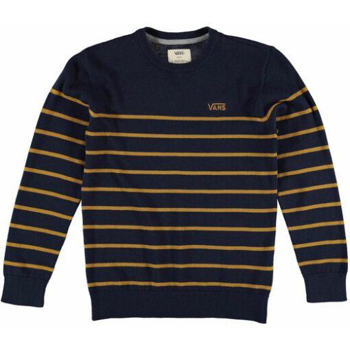 Jersey Suéter VANS Niño cuello redondo Ref. VN02RJH6O Livingston Boys azul marino rayas amarillas