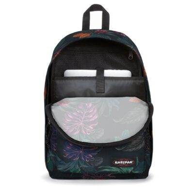 MOCHILA EASTPAK Out Of Office 27 litros con bolsillo ordenador EK76730Q Purple Brize Flores moradas