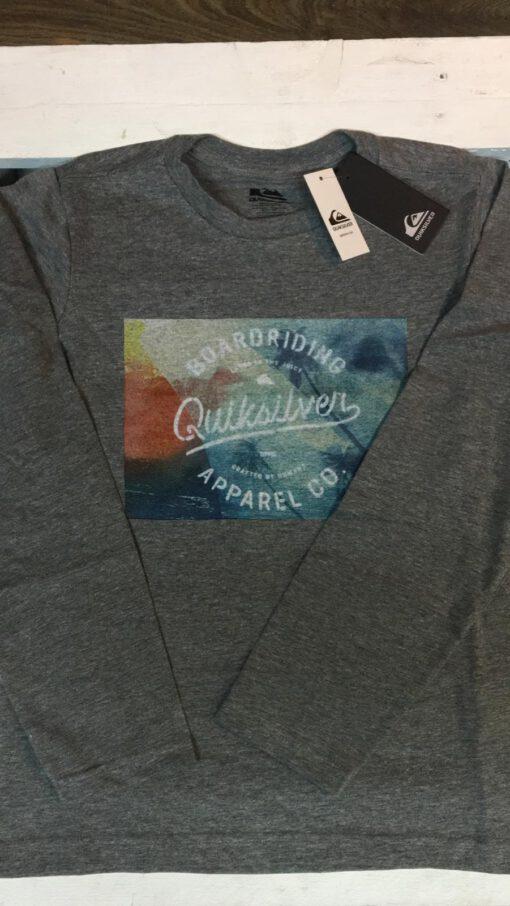Camiseta manga larga niño Quiksilver Classic Apparel Ref. EQBZT03154 Gris surf