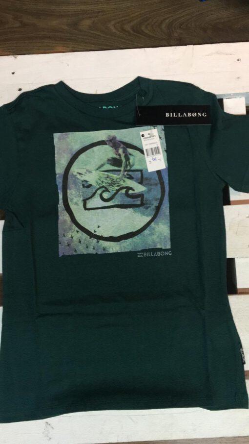 Camiseta manga corta niño Billabong Ref. U2SS08 Volta ss Boy emerald verde