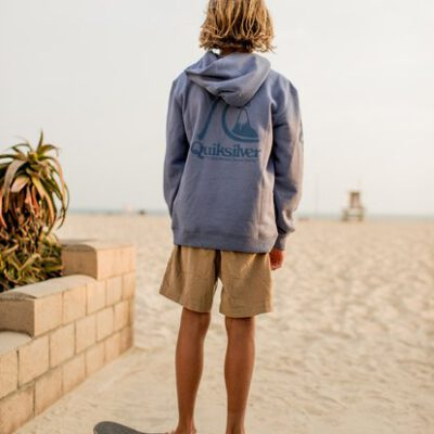 Sudadera niño Quiksilver con capucha para Chicos Spring Roll Ref. EQBFT03517 Color azul