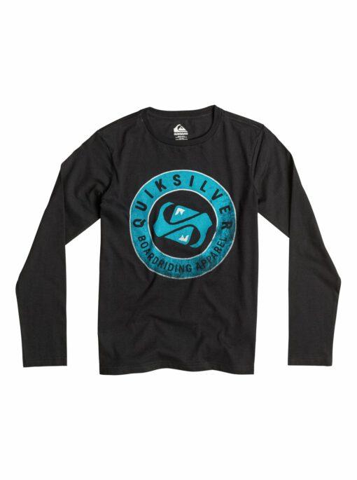 Camiseta manga larga niño Quiksilver Classic Finish Line Ref. EQBZT03168 negra logo azul